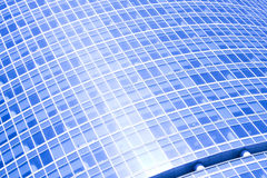 Abstract crop of modern office. Blue abstract crop of modern office skyscraper Royalty Free Stock Photo