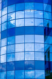 Abstract crop of modern office. Blue abstract crop of modern office skyscraper Stock Photo