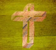 Abstract cross. Abstract background with cross on wood texture Royalty Free Stock Photography