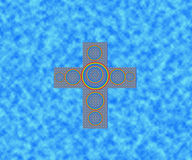 Abstract cross in blue sky. Abstract cross design in blue sky Royalty Free Stock Images