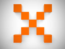 Abstract cross of the cubes Royalty Free Stock Image