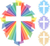 Abstract Cross/eps. Illustration of a colorful layered cross with color variations Royalty Free Stock Photography
