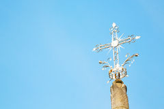 Abstract cross in italy   the sky Royalty Free Stock Image