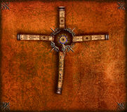 Abstract cross. Cross, abstract vision on a old vintage background Stock Image