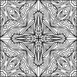 Abstract Cross Zentangle Style Black And White Ornament Stock Image