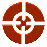 Abstract crosshair, target mark icon with adjustable highlight. Royalty free vector illustration Stock Image