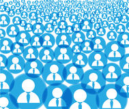 Abstract crowd Royalty Free Stock Photo