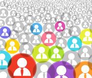 Abstract crowd Stock Photography