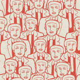 Abstract crowd of business men's Stock Images