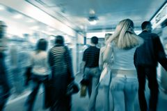 Abstract crowd movement Stock Photography