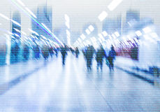 Abstract crowd of people  networking on cyberspace Royalty Free Stock Photos