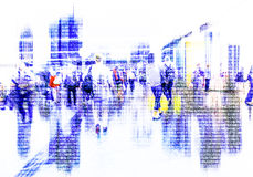 Abstract crowd of people  networking on cyberspace Stock Images