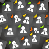 Abstract crowd of social media account icons Stock Photos