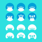 Abstract crown, milk, water drops vector company l Stock Photos