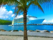 The abstract cruise ship at Labadee -Caribbean Island of Haiti. The abstract cruise ship at Labadee - caribbean Island of Haiti Stock Image