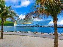 The abstract cruise ship at Labadee -Caribbean Island of Haiti. The abstract cruise ship at Labadee - caribbean Island of Haiti Royalty Free Stock Image