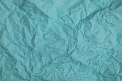 Abstract crumpled paper. Abstract blue recycle crumpled paper for background Royalty Free Stock Photography