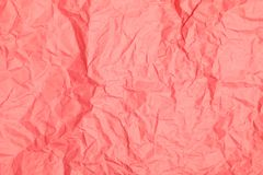 Abstract crumpled paper. Abstract pink recycle crumpled paper for background Royalty Free Stock Photos