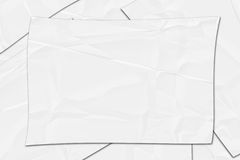 Abstract of crumpled white paper Stock Photos