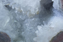 Abstract Crystal. Abstract background. Close up macro crystal rock Royalty Free Stock Photos