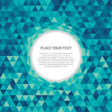 Abstract crystal background with text space. Abstract vector background with no transparencies. Every shape is individually colored and easy to change. Circles stock illustration