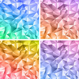 Abstract crystal colorfull backgrounds. Set of four abstract crystal colorfull backgrounds Stock Images