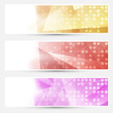 Abstract crystal dotted cards collection Stock Photography