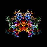 Abstract crystal fractal object Royalty Free Stock Photography
