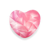 Abstract Crystal Heart Stock Afbeeldingen
