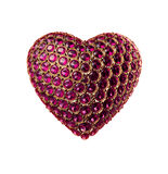 Abstract crystal heart Valentine's day Royalty Free Stock Image