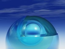 Abstract - Crystal at the inner core stock illustration
