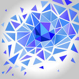 Abstract Crystal Polygon Background.  Vector Stock Image