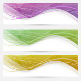 Abstract crystal wave speed line website header Stock Photos