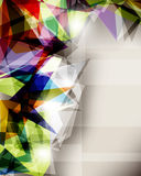 Abstract crystallized background Stock Photography
