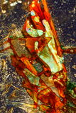 Abstract crystals. Colorful abstract of crystals of copper sulphate mixed with sulphur Royalty Free Stock Images