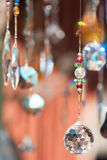 Abstract crystals dangling background Stock Images