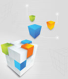 Abstract Cube. Abstract  3d cube colorful background Royalty Free Stock Photo