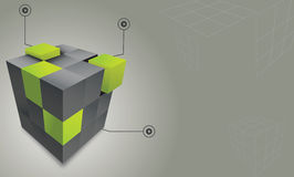 Abstract Cube. Abstract  3d cube colorful background Royalty Free Stock Images