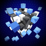 Abstract cube. Fine abstract  background 3d cube construction Stock Photos