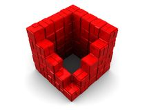 Abstract cube Royalty Free Stock Image