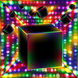 Abstract cube art vector background. Stock Photo