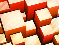 Abstract cube background Stock Image