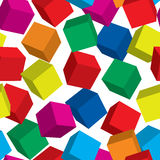 Abstract cube background. Seamless. Vector illustration Stock Images