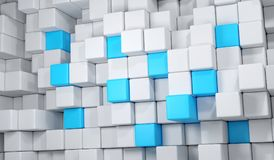 Abstract Cube Background. 3D Rendering Of Abstract Cube Background Stock Images