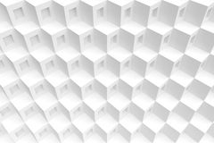 Abstract Cube Background. 3d White Geometric Concept Royalty Free Stock Photos