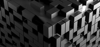 Abstract Cube Background With Lots Of Rectangles. 3D Rendering Of Abstract Cube Background With Lots Of Rectangles Stock Photography