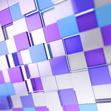 Abstract cube background techno wallpaper. Abstract cube background shiny glossy blue violet backdrop techno wallpaper Royalty Free Stock Image