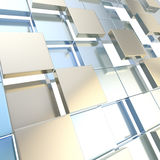 Abstract cube background techno wallpaper Stock Photos