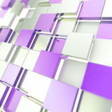 Abstract cube background techno wallpaper Royalty Free Stock Photo