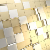 Abstract cube background techno wallpaper Royalty Free Stock Photography